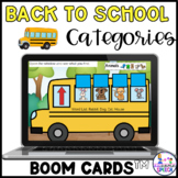 Boom Cards: Back to School Categories (Food, Animals, Clot