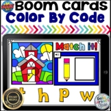 Boom Cards Back to School Color By Code Beginning Sounds