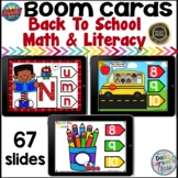 Boom Cards Back to School Math and Literacy Bundle