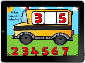 Boom Cards Back to School Number Order