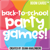 Boom Cards™️ Back-to-School Party Games!