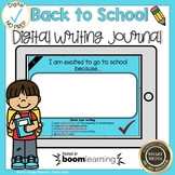 Boom Cards Back to School Writing Journal