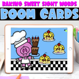 Boom Cards | Baking Sweet Sight Words | May First Grade