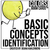 Boom Cards™️ Basic Concepts Identification- Colors
