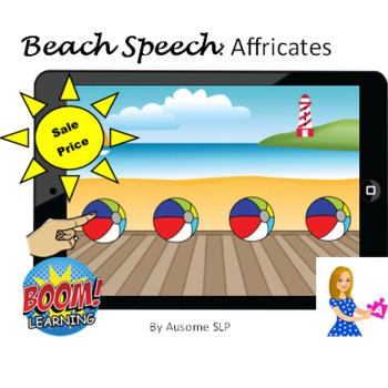 Boom Cards: Beach Speech- /CH/ and /J/ Sound All Word Positions