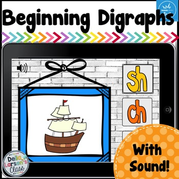 Boom Cards Beginning Digraphs Ch, Sh, Th, WR, WH, KN