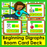 Boom Cards™ Beginning Digraphs:  Drag a Digraph ch, th, sh, wh -  25 Cards