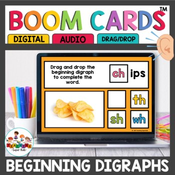 Boom Cards Beginning Digraphs ch sh th wh
