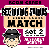 Boom Cards Beginning Sound Match Set 2 Task Cards