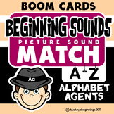 Boom Cards Beginning Sound Match Set Letters A-Z Task Cards