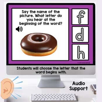 Beginning Sound Recognition Boom Cards