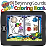 Boom Cards - Beginning Sounds Coloring Book - Distant Learning