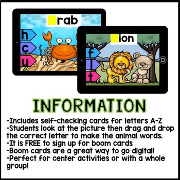 Boom Cards Beginning Sounds Kindergarten (interactive self-checking activities)