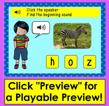 Boom Cards™ - Beginning Sounds - Real Objects Photographs - With Sound