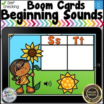 Boom Cards Beginning Sounds - Sunflower