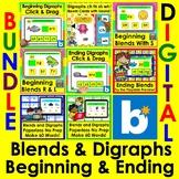 Boom Cards Blends & Digraphs BUNDLE Kindergarten First Gra