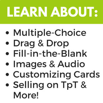 How to Make Boom Cards™  - A Boom Learning™ Course for Sellers