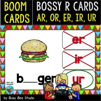 Boom Cards   Bossy R (ar, er, or, ir, ur) Cards