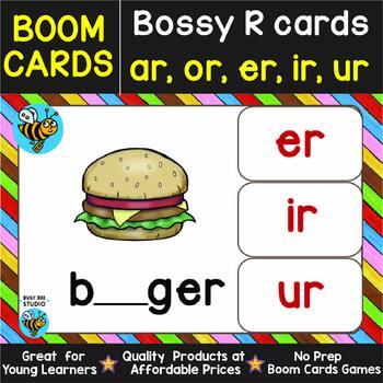 Boom Cards | Bossy R (ar, er, or, ir, ur) Cards