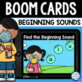 Boom Cards™ Bubbles Beginning Sounds DISTANCE LEARNING | D