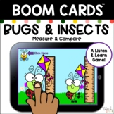 Boom Cards: Bugs & Insects Measure & Compare