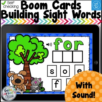 Boom Cards Build A Sight Word - We Love Dogs