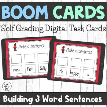 Boom Cards - Building 3 Word Sentences