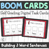 Boom Cards - Building 3 Word Sentences