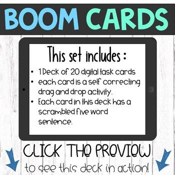 Boom Cards - Building 5 Word Sentences