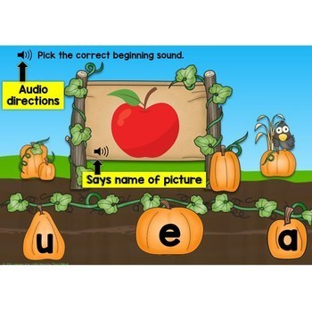 Boom Cards Bundle Alphabet Letters & Letter Sounds Match in the Pumpkin Patch
