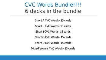 Boom Cards Bundle CVC Decks