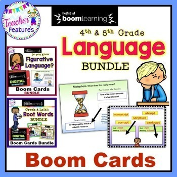 Boom Cards Vocabulary : GREEK AND LATIN WORDS Bundle
