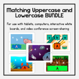 Boom Cards Bundle: Matching Uppercase and Lowercase