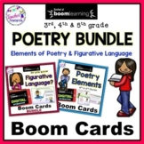 Boom Cards Poetry Elements & Reading BUNDLE