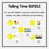 Boom Cards Bundle: Telling Time (with AM/PM)