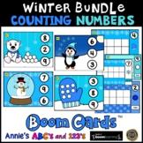 Boom Cards ™ Bundle Winter Kindergarten Counting