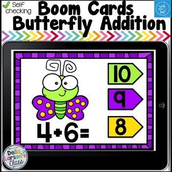 Boom Cards Butterfly Addition