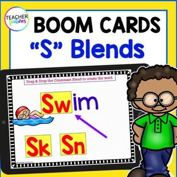 Boom Cards 1st Grade | Consonant Blends Activities | Initial Consonant Blends |