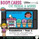 Boom Cards™ CVC Ice cream words - medial a - distance learning