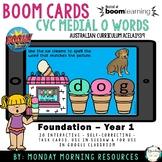 Boom Cards™ CVC Ice cream words - medial short o vowel-dis