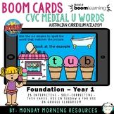 Boom Cards™ CVC Ice cream words - medial short u vowel - d