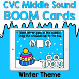 Boom Cards - CVC Middle Sounds - Winter Theme