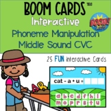 Boom Cards™ CVC Phoneme Manipulation Middle Sound