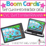 Boom Cards™  CVC  Short Vowel Review