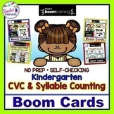BOOM CARDS READING CVC WORDS and SYLLABLE COUNTING Bundle