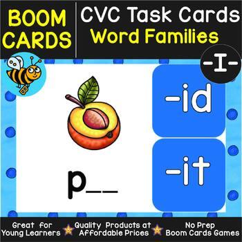 Boom Cards | CVC Word Families  -I- Cards