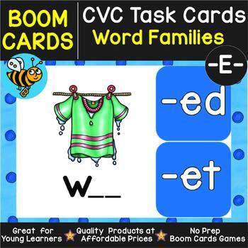 Boom Cards | CVC Word Family Task Cards