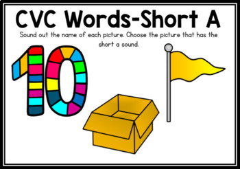 Boom Cards- CVC Words Short A Digital Task Cards