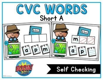CVC Boom Cards Words with Short A Digital Task Cards
