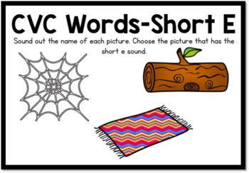 Boom Cards- CVC Words Short E Digital Task Cards